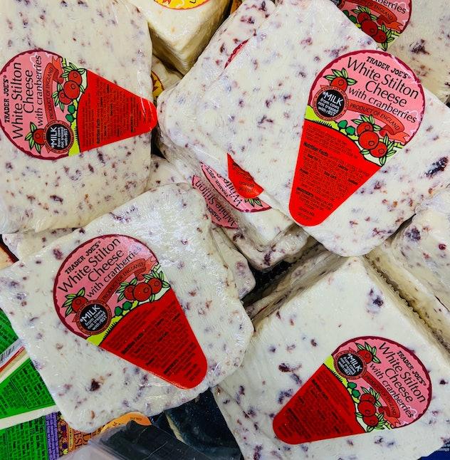 white stilton cheese with cranberries