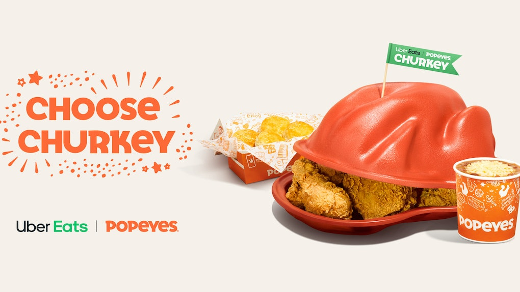 Here's how to order Popeyes' Churkey Thanksgiving special on Uber Eats to skip the traditional turkey.