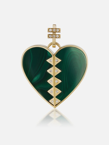 Malachite Heart Talisman
