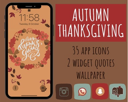 Happy Thanksgiving iOS 14 Home Screen Theme Pack