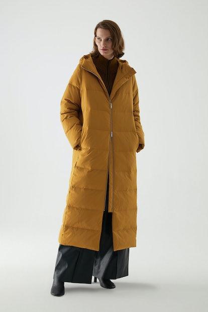 Long Hooded Puffer Coat