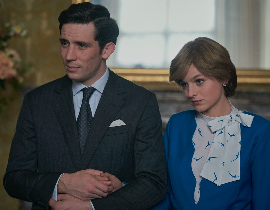 Prince Charles and Princess Diana in 'The Crown' Season 4 via the Netflix press site