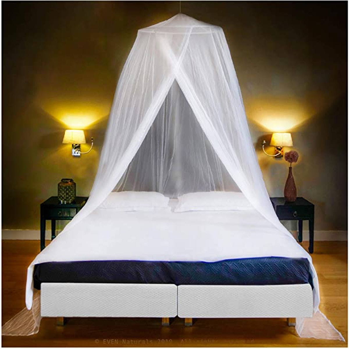 EVEN NATURALS Luxury Mosquito Net Bed Canopy