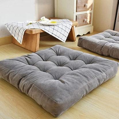 HIGOGOGO Solid Square Seat Cushion