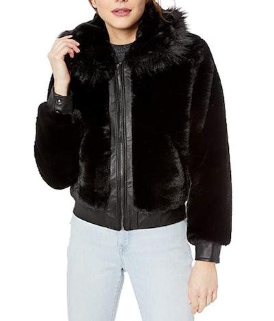 BLANKNYC Faux Fur Bomber Jacket