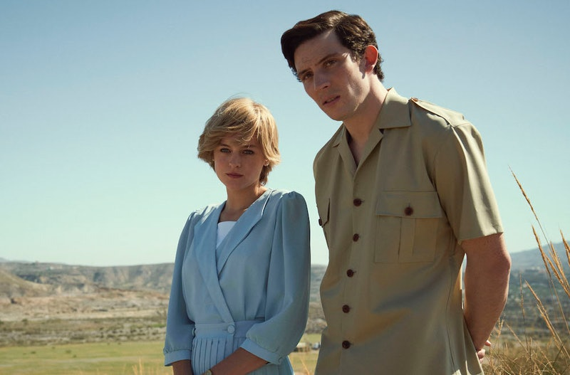 Emma Corrin and Josh O'Conner as Princess Diana and Prince Charles in 'The Crown' Season 4
