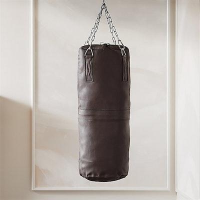 Executive Grey Leather Punching Bag