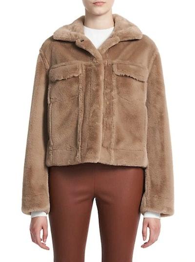 Aspen Faux Fur Trucker Jacket