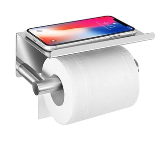 UgBaBa Toilet Paper Holder with Anti-Drop Phone Shelf