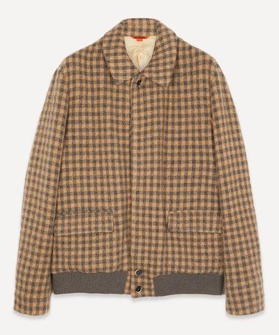 Button Through Checked Jacket