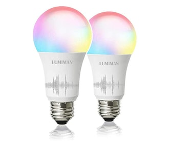 LUMIMAN Smart WiFi Light Bulb (2-Pack)