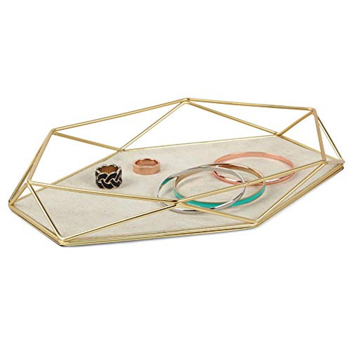 Umbra Geometric Plated Jewelry Storage