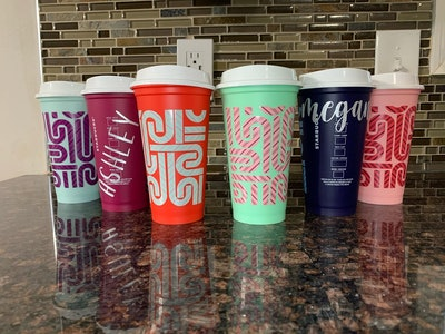 Starbucks Holiday Color Changing Cups