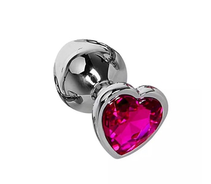 Heart Gemstone Anal Plug