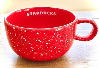 16-oz. Red Speckle Ceramic Starbucks Cup