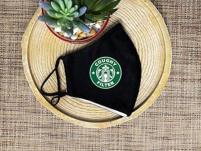 Funny Starbucks Face Mask