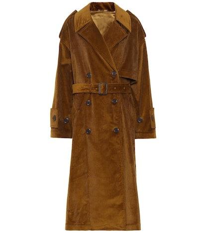 Belted corduroy coat