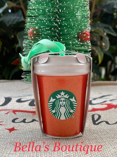 Starbucks Red Glitter Holiday Cup Ornament 2020