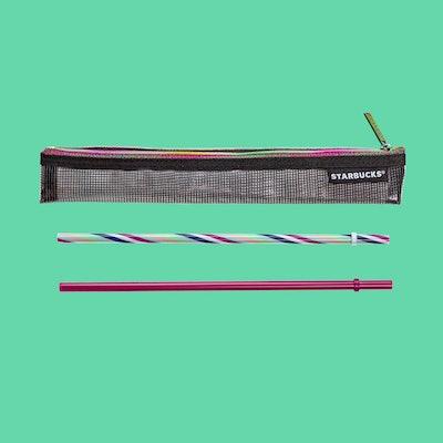 Reusable Stripe Straw 2-pack