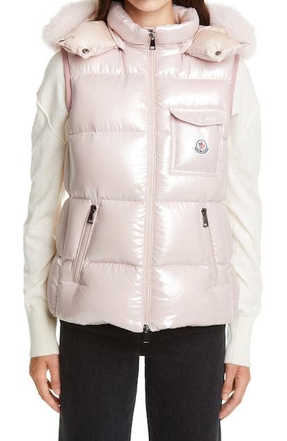 Balabio Metallic Down Puffer Hooded Vest
