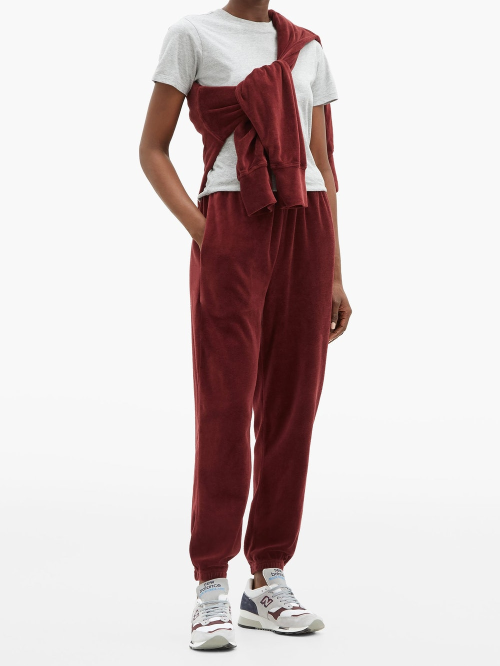 Cotton-blend Velour Track Pants