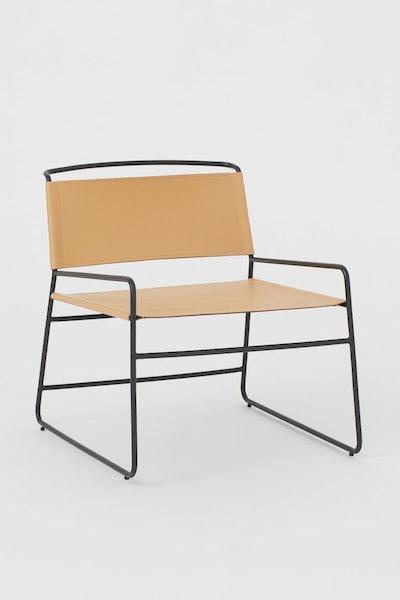 Metal lounge chair
