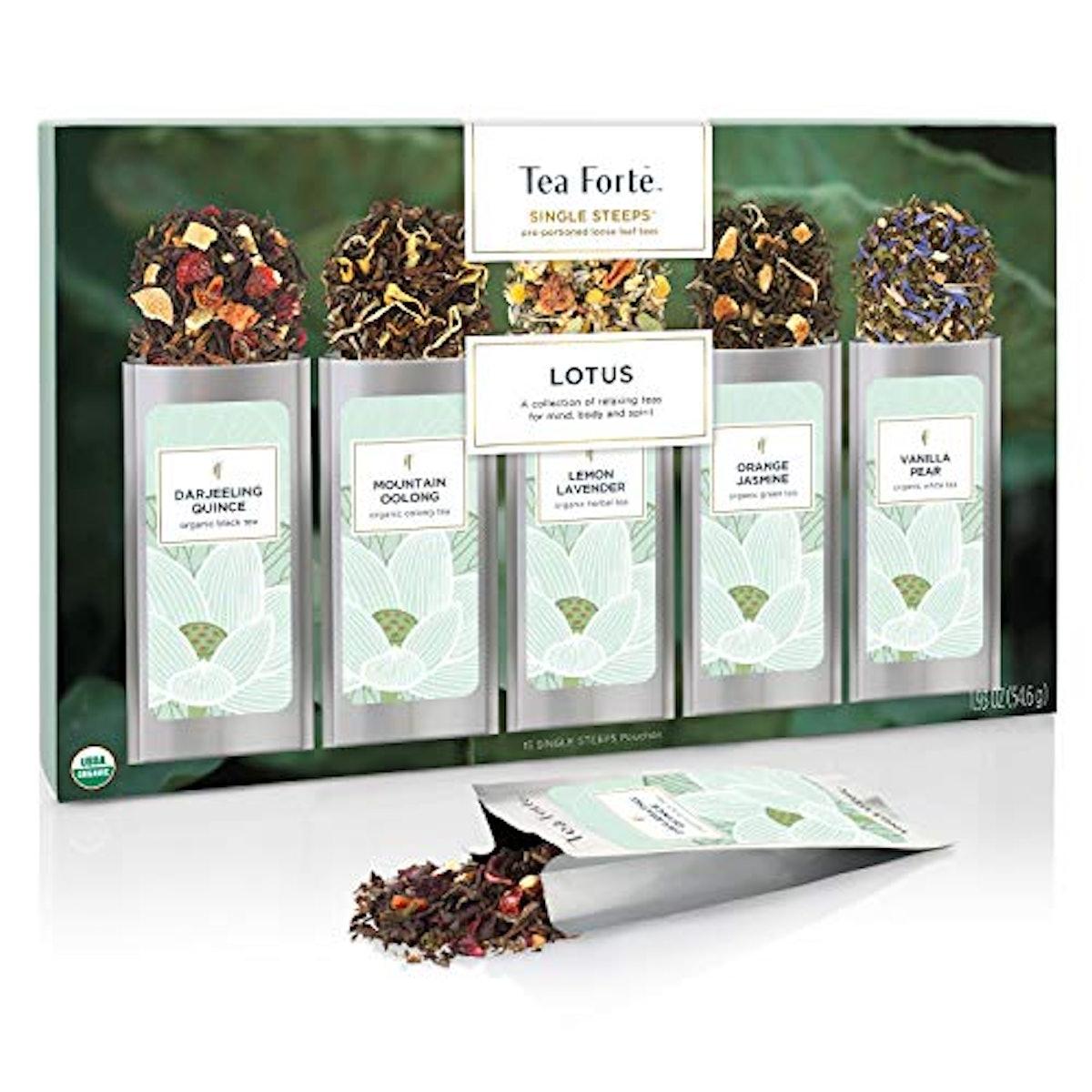 Tea Forte Single Steeps Loose Leaf Tea Sampler