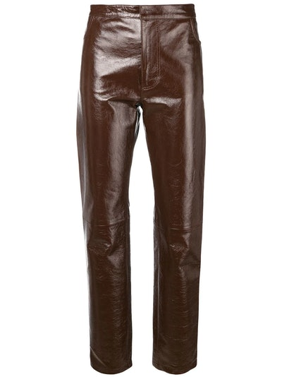 patent leather pants