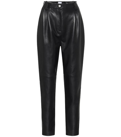 Wembley high-rise leather pants