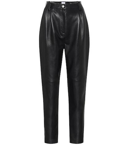 Wembley high-rise leather pants