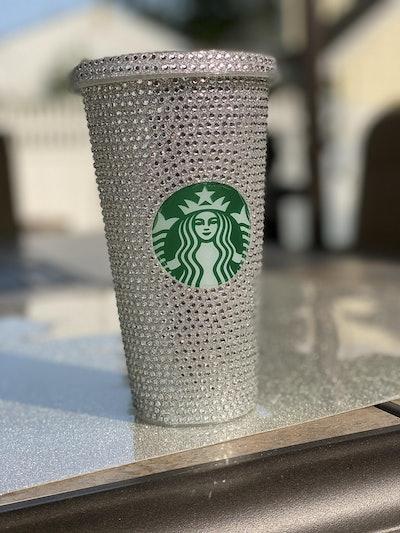 Bling Rhinestone Starbucks Reusable Cup