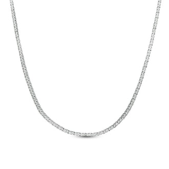 Lab-Created White Sapphire Tennis Necklace