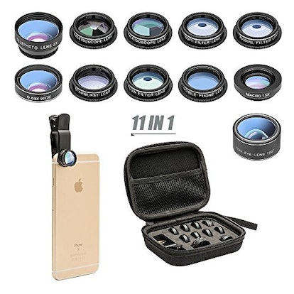 Mocalaca 11 in 1 Cell Phone Camera Lens Kit