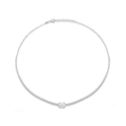 Illusion Horizontal Pave Necklace