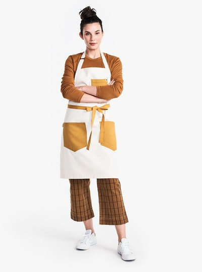 Madewell x Hedley & Bennett Contrast-Stitch Apron