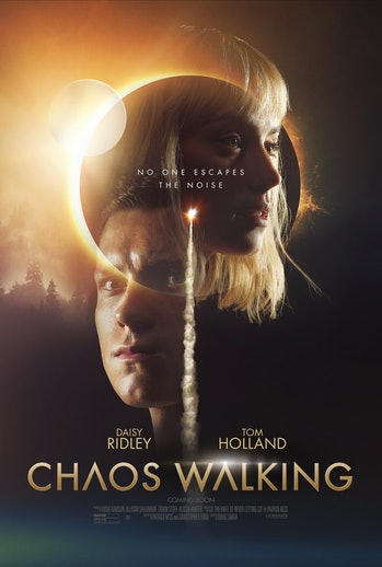 chaos walking poster tom holland daisy ridley