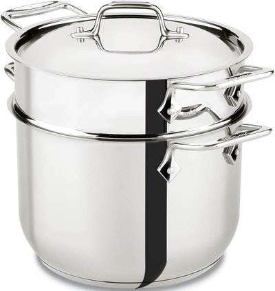 All-Clad Stainless Steel Pasta Pot and Insert Cookware
