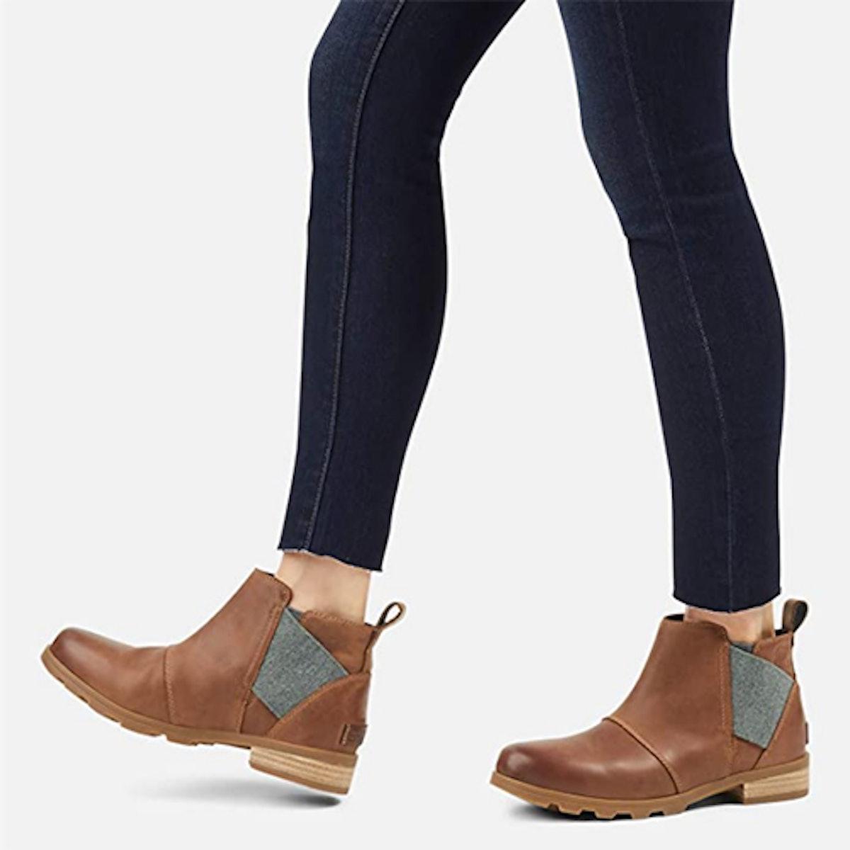 Sorel Emelie Waterproof Ankle Boots