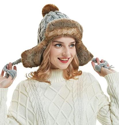 OMECHY Knit Trapper Hat