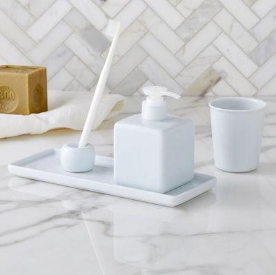 Muji White Porcelain Bath Accessories