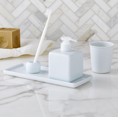 Muji White Porcelain Bath Accessories