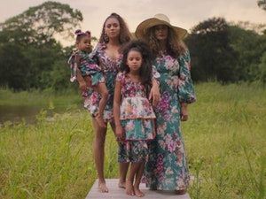 "Beyoncé, Tina Knowles-Lawson, Blue Ivy Carter, and Rumi Carter appear together in a scene from ""Brown Skin Girl."""