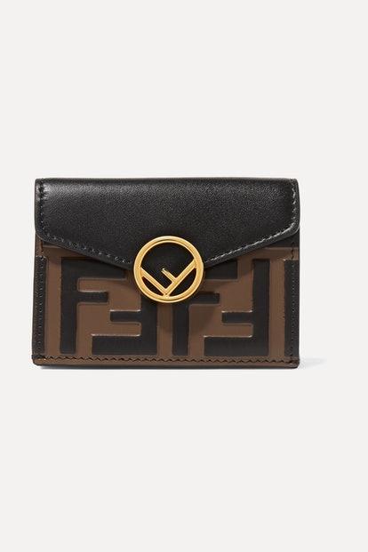 Embellished Embossed Leather Walle