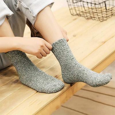 Senker Womens Warm Wool Socks (5-Pack)