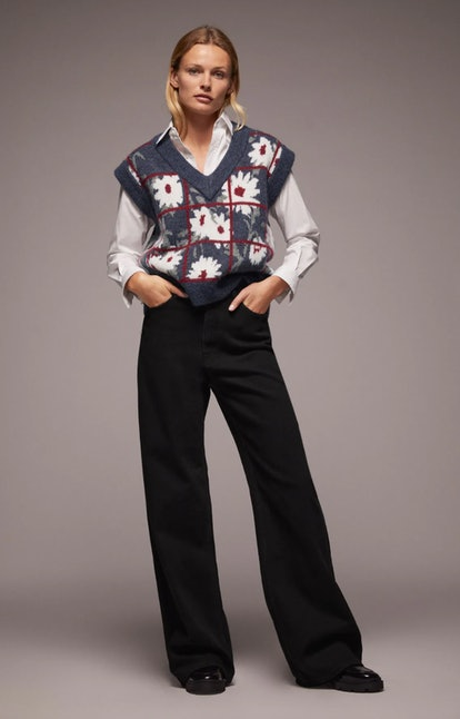 Floral Knit Vest