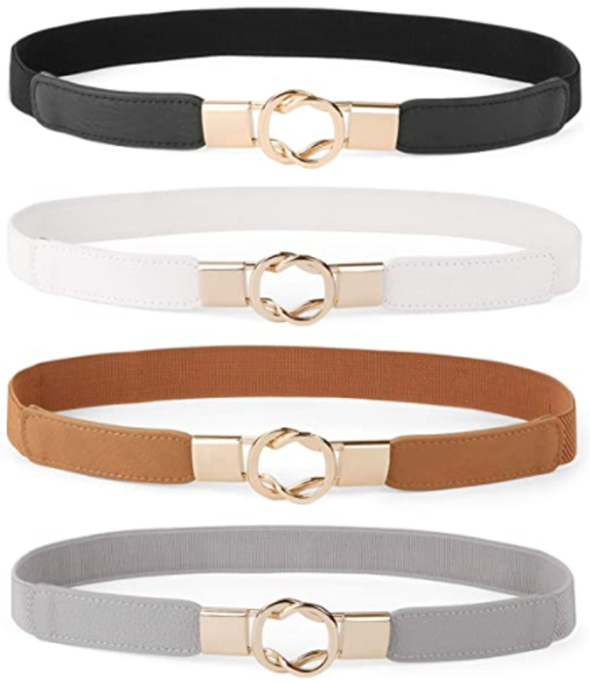 WERFORU Skinny Belts (Set of 4)