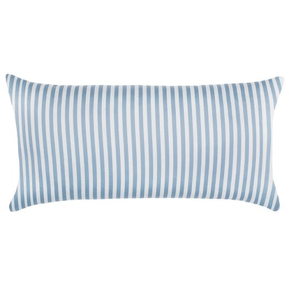 The French Blue Striped Throw Pillow