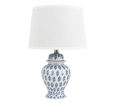 Ginny Table Lamp in Blue/White