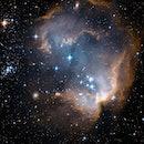 hubble nebula with stars