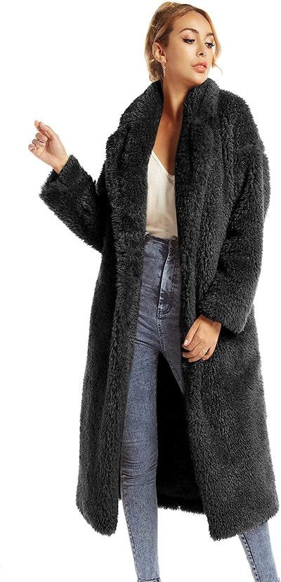 SUGAR POISON Women's Faux-Fur Winter Coat